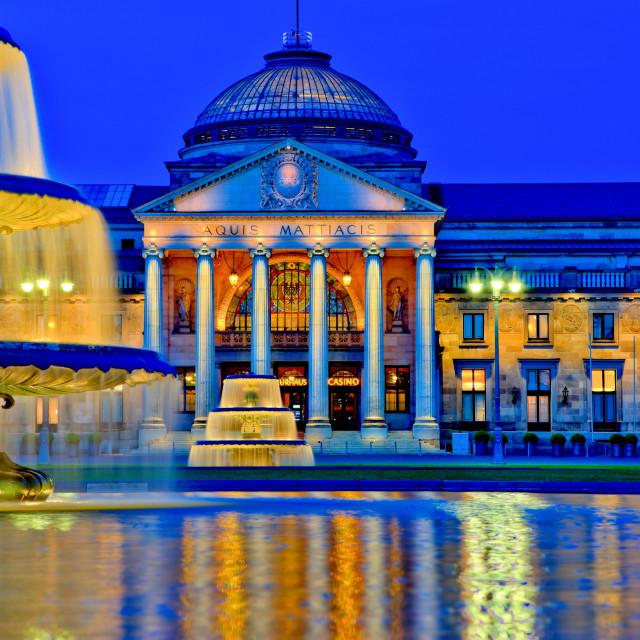 """""""Wiesbaden Kurhaus"""" stock image"""