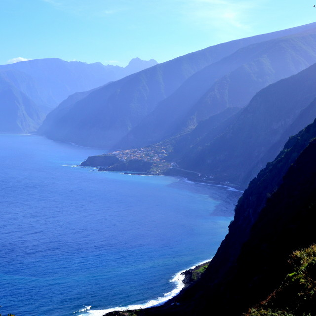 """View over Madeira island"" stock image"