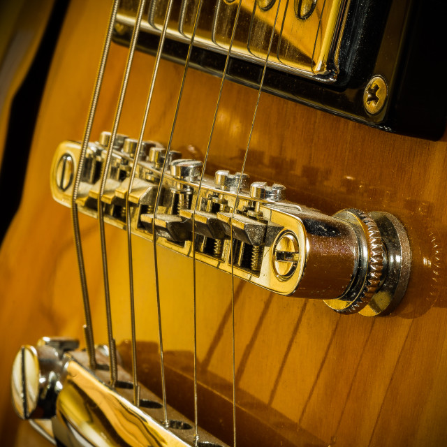 """Guitar Bridge"" stock image"