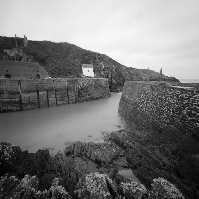 """Porthgain Harbour"" stock image"