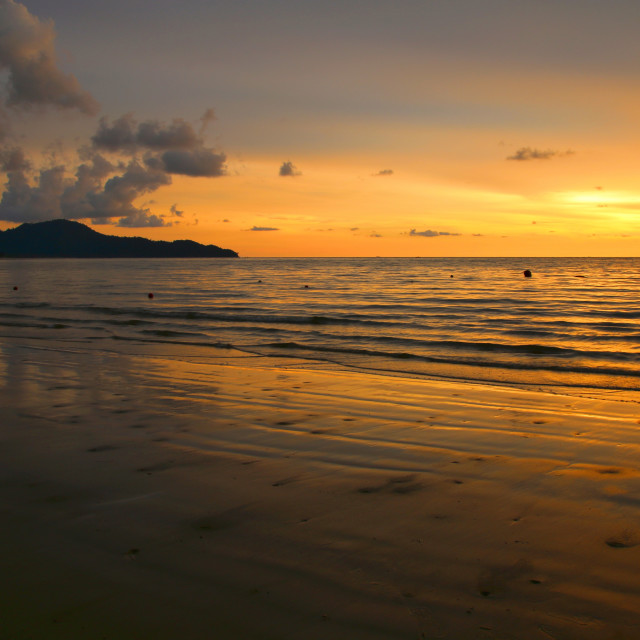 """Borneo Sunset"" stock image"