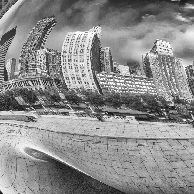 """Cloud Gate, Chicago"" stock image"