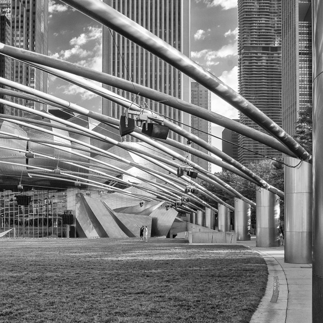 """The Pritzker Pavilion, Chicago"" stock image"