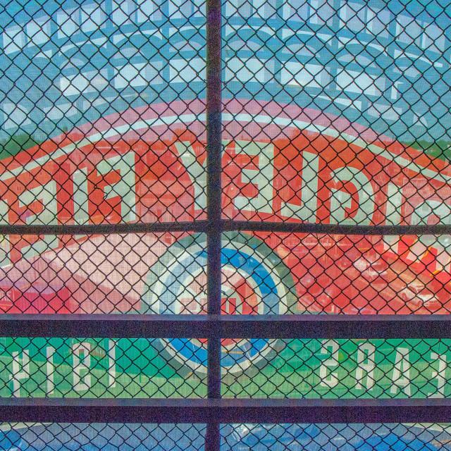 """Wrigley Field, Chicago"" stock image"