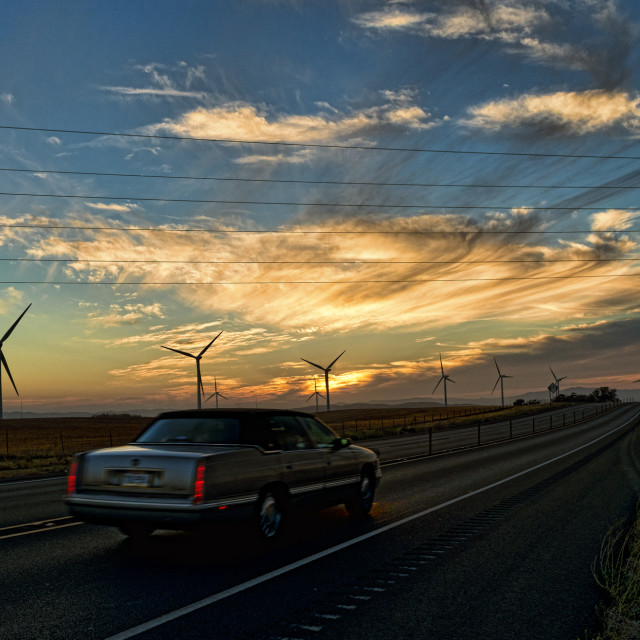 """Windmill farm"" stock image"