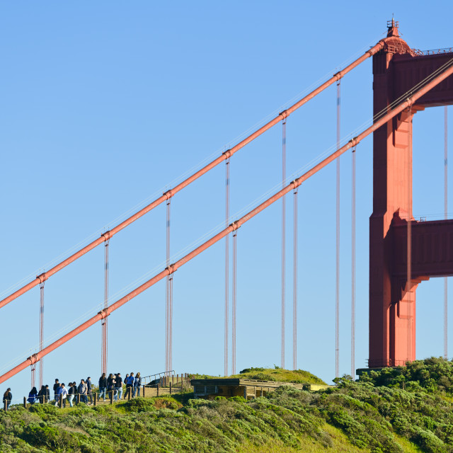 """Golden Gate Bridge tower"" stock image"