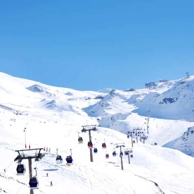 """""""ski resort of Sierra Nevada in Andalucia,Spain"""" stock image"""