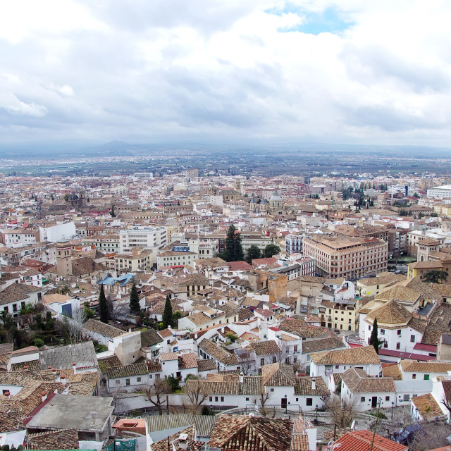 """Cityscape of Granada, Andalusia, Spain."" stock image"