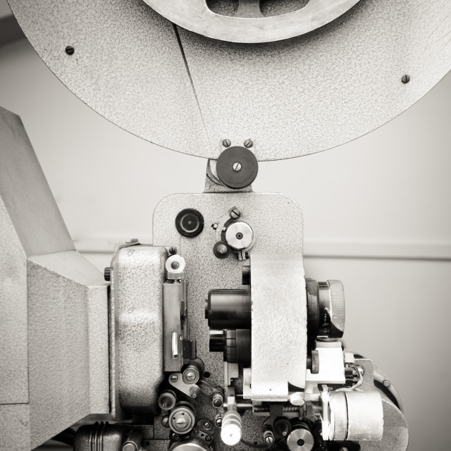 """Cinema projector for 16 mm movie, old vintage professional indu"" stock image"