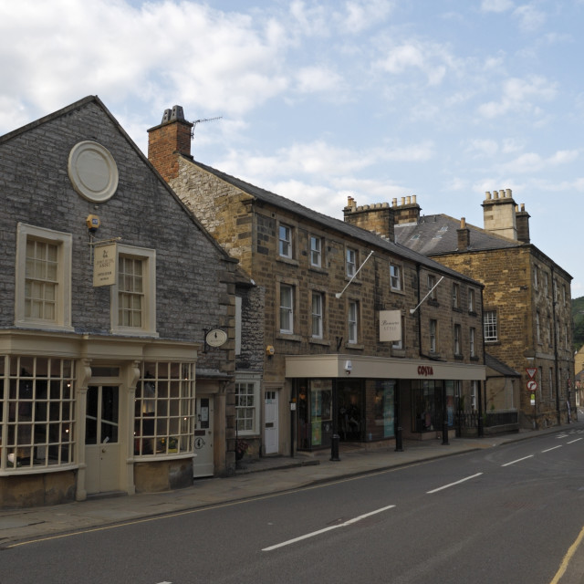 """""""Bakewell in Derbyshire"""" stock image"""