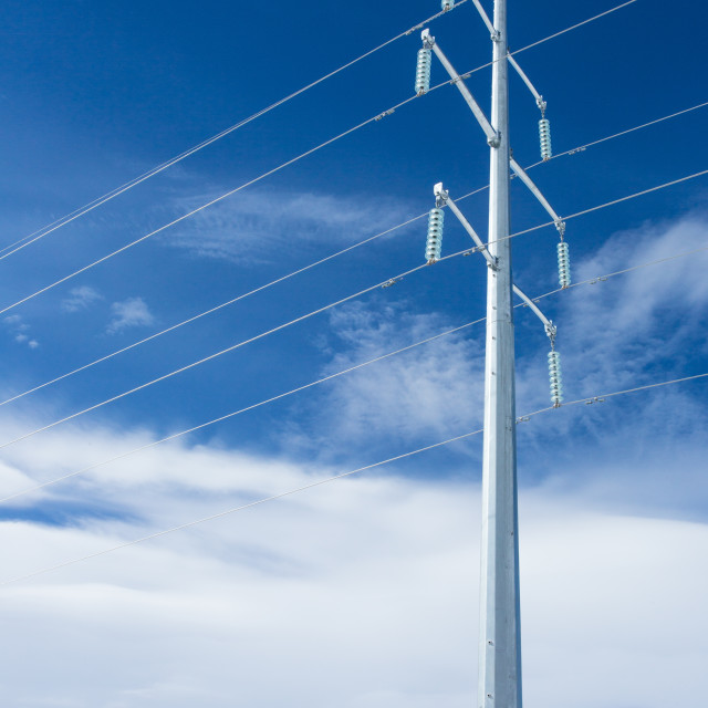 """Electricity Pylon vertical"" stock image"