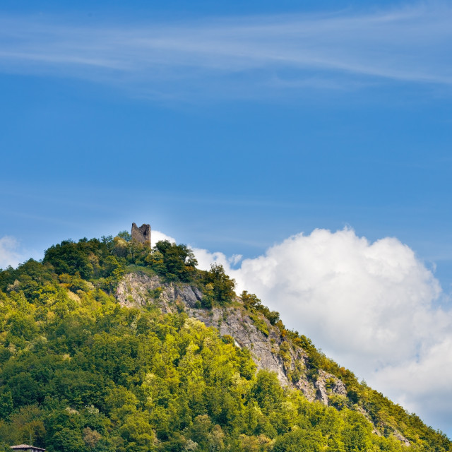 """""""old tower on the hill"""" stock image"""