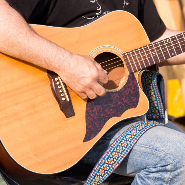 """""""notes of a guitar"""" stock image"""