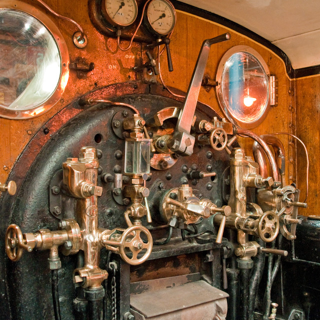 """Royal Train Cab & Backhead"" stock image"