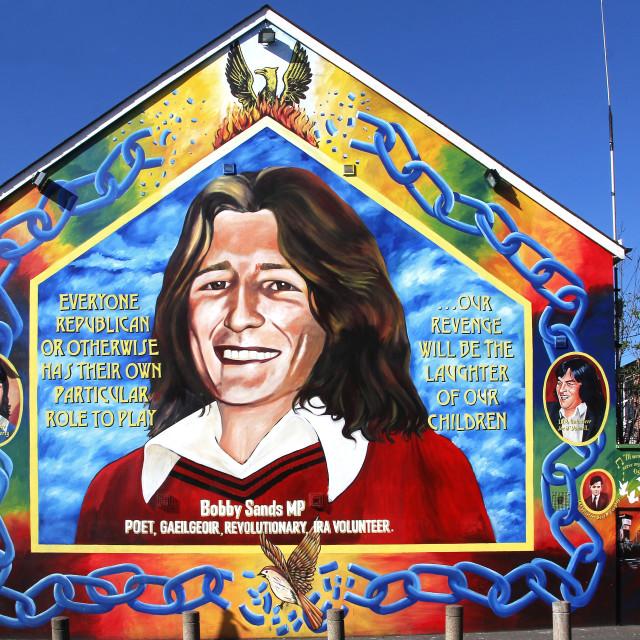 """""""Bobby Sands Hunger Striker Mural"""" stock image"""