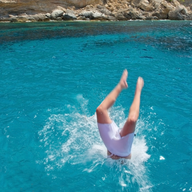 """""""Diving in water"""" stock image"""
