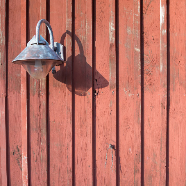 """Rustic lamp of metal"" stock image"