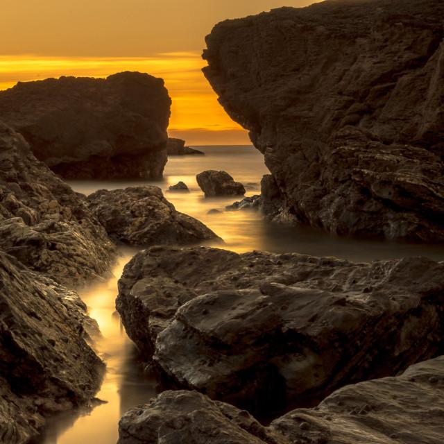 """Through the rocks"" stock image"