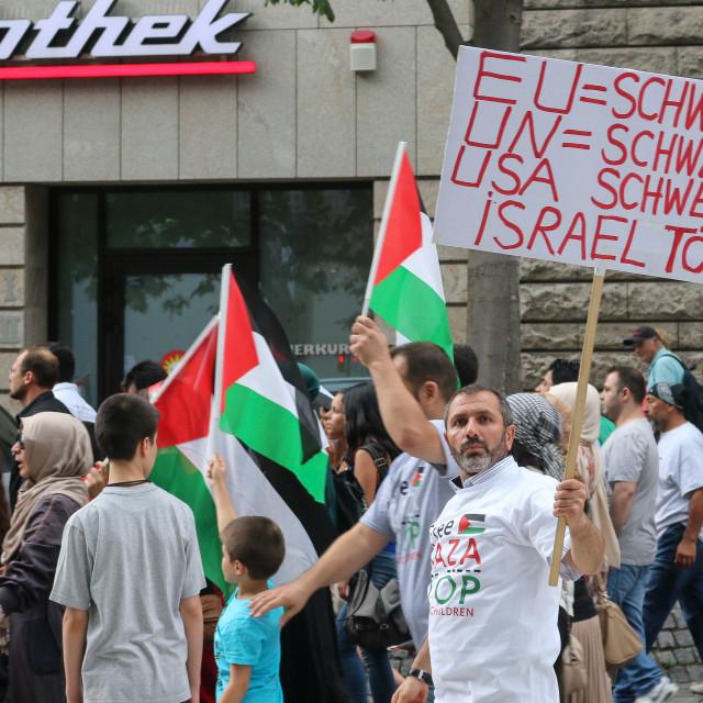 """Gaza protest"" stock image"