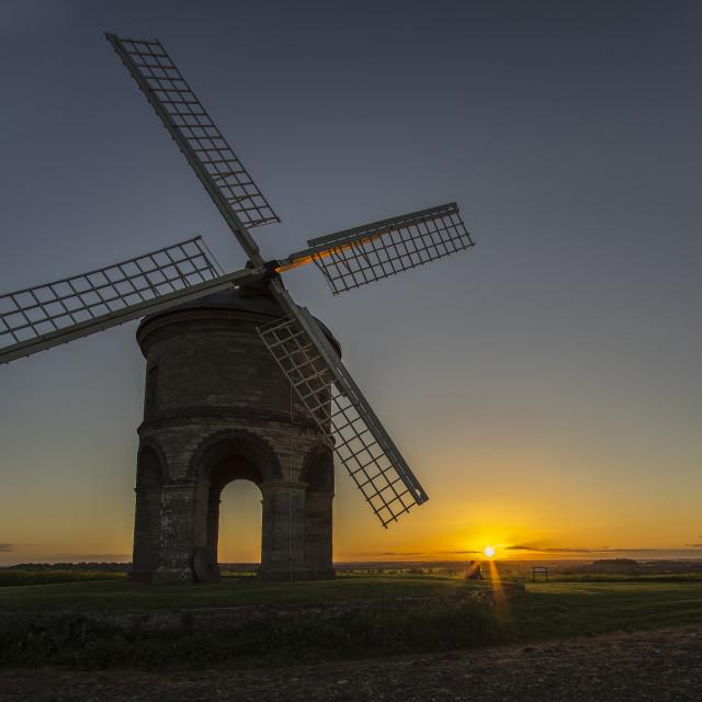 """Sunset windmill"" stock image"