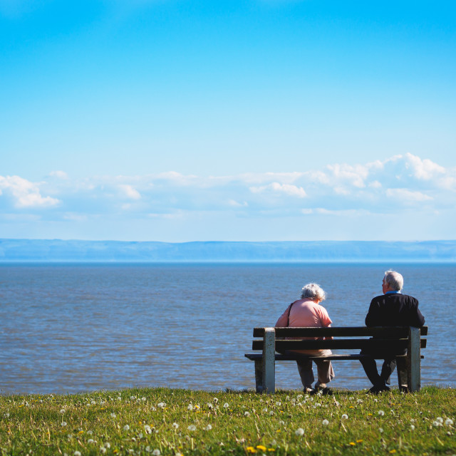 """Older Couple at the Seaside"" stock image"