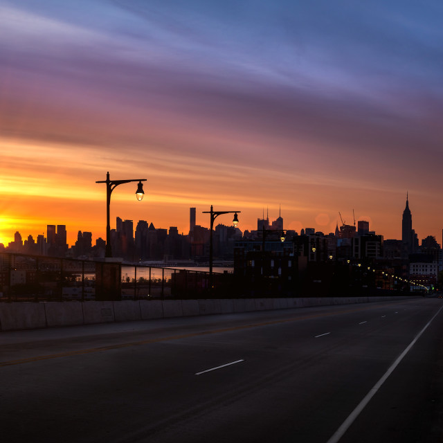 """Morning has Broken... New York Style"" stock image"
