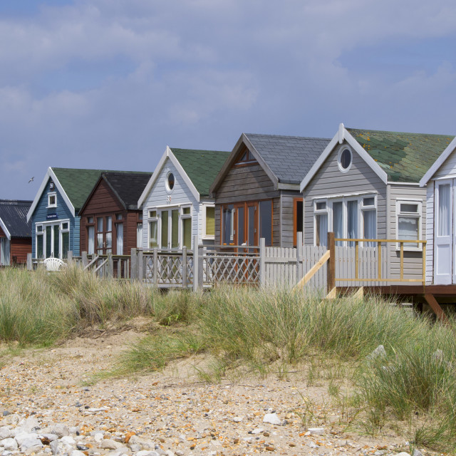 """beachhuts"" stock image"