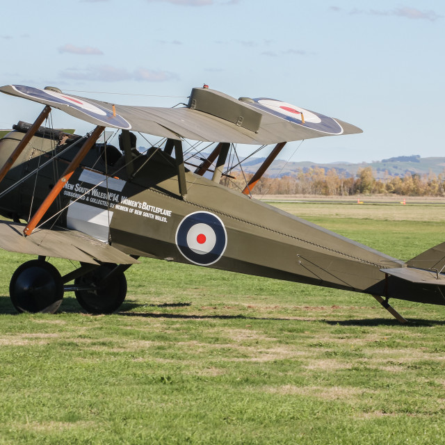 """De Havilland DH-5"" stock image"
