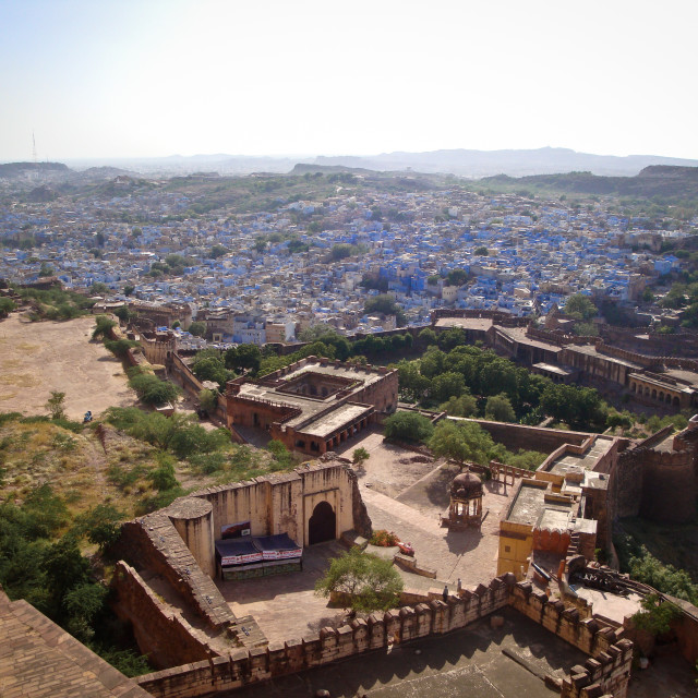 """View from the fort, Jodhpur"" stock image"