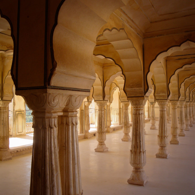"""Pillars at the Amer Fort"" stock image"