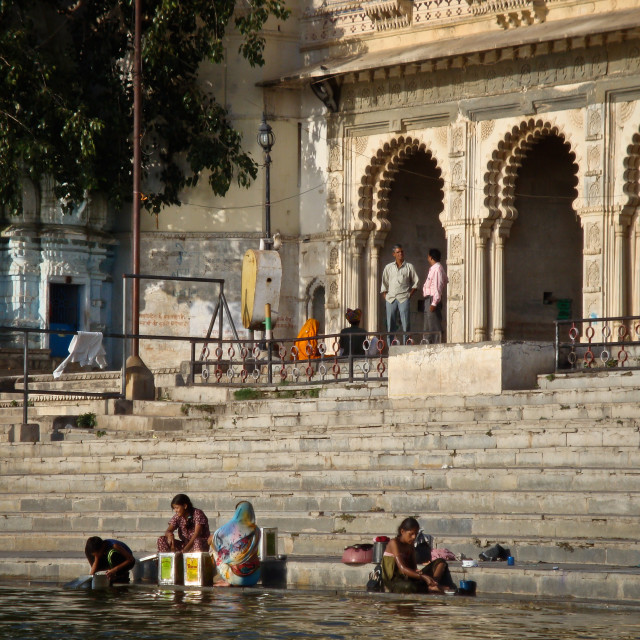 """Ghats in Udaipur, Rajasthan"" stock image"