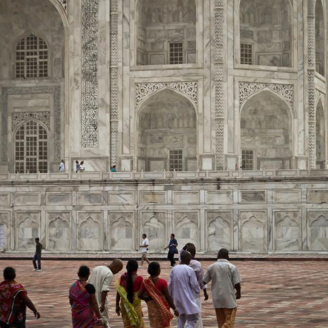 """Indians at the Taj Mahal"" stock image"