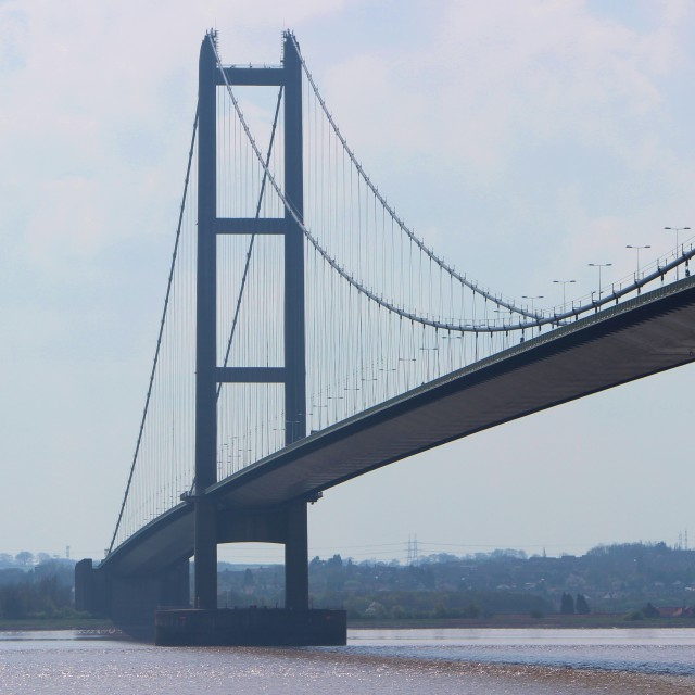 """The Humber Bridge."" stock image"