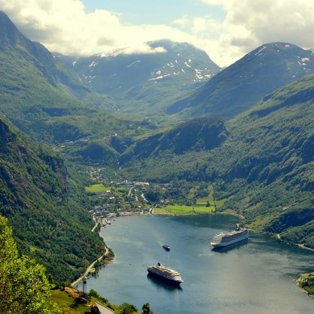 """Geiranger Norway"" stock image"