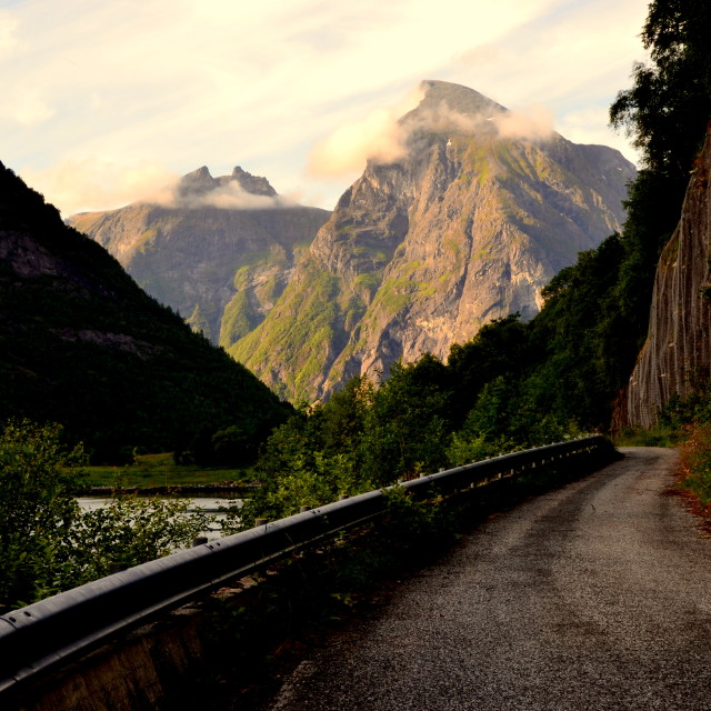 """Old road in Norway"" stock image"