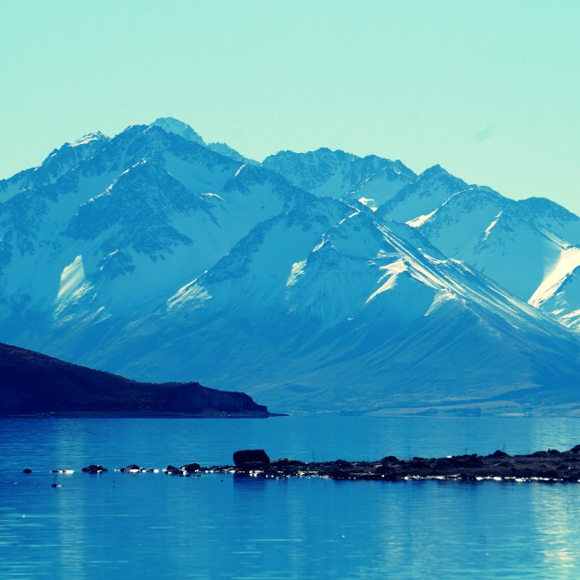 """Lake Pukaki"" stock image"