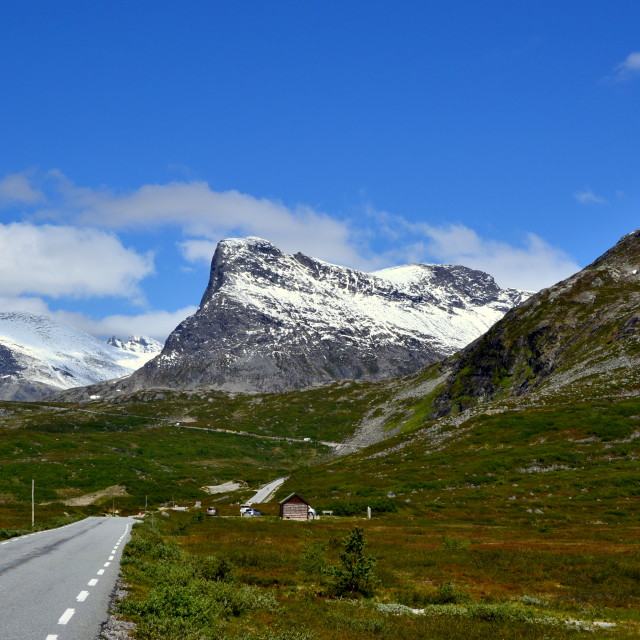 """Mountain road in Norway"" stock image"