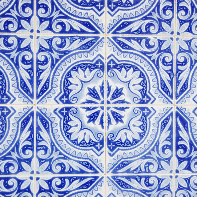 """Azulejos blues, portuguese tiles"" stock image"