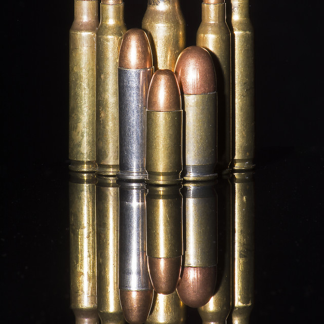 """An order of bullets"" stock image"