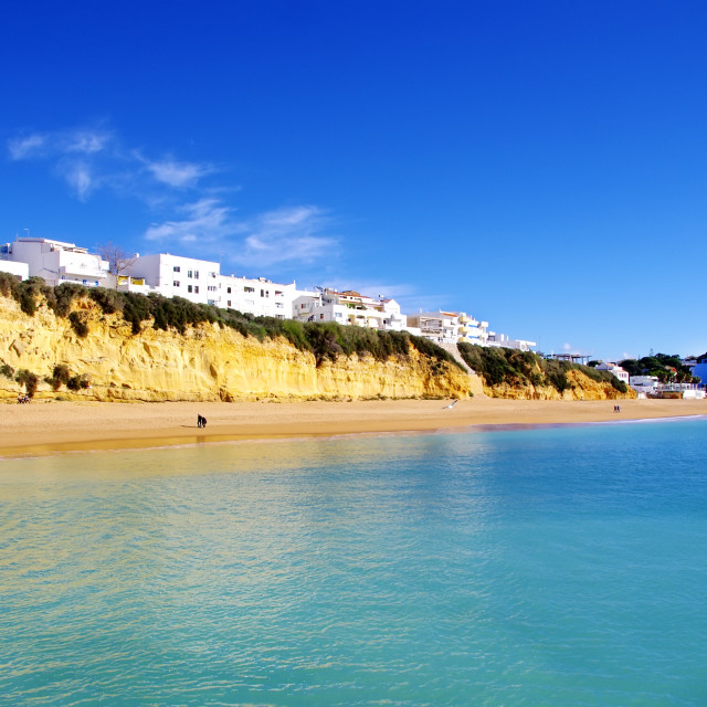"""sea and beach in Albufeira. Portugal."" stock image"