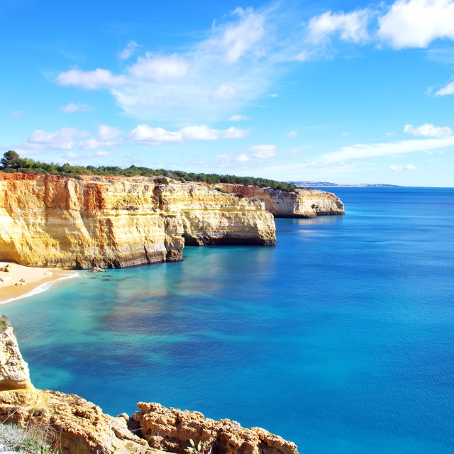 """""""Benagil beach , Algarve, Portugal"""" stock image"""