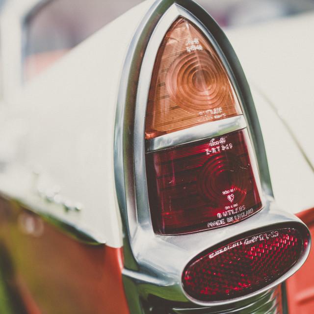 """Tailights, Ford Anglia"" stock image"