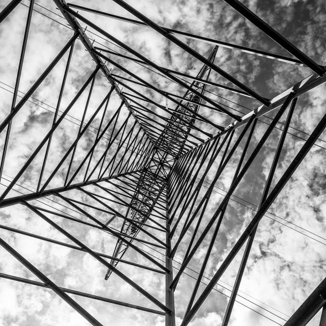 """Power pylon"" stock image"