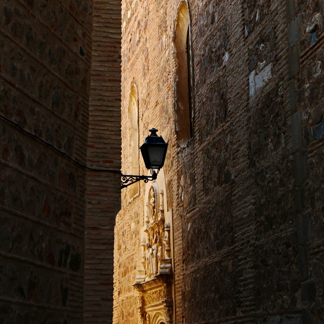 """Around the tight street corners in Toledo, Spain"" stock image"