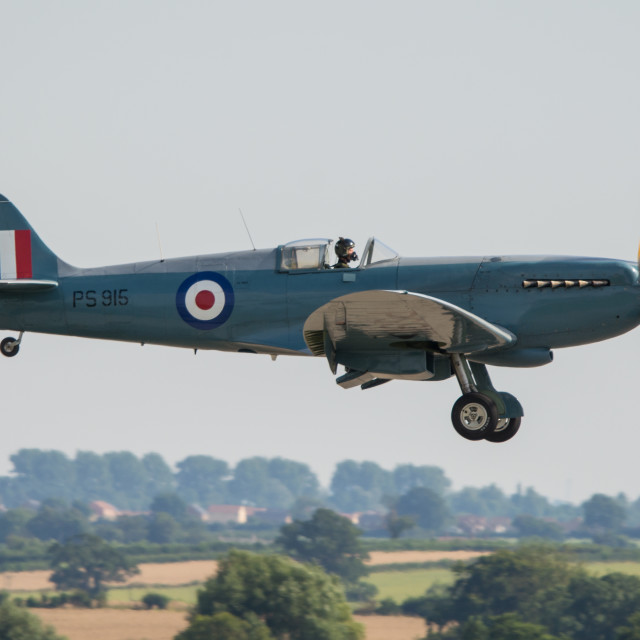 """Memorial Flight Spitfire"" stock image"