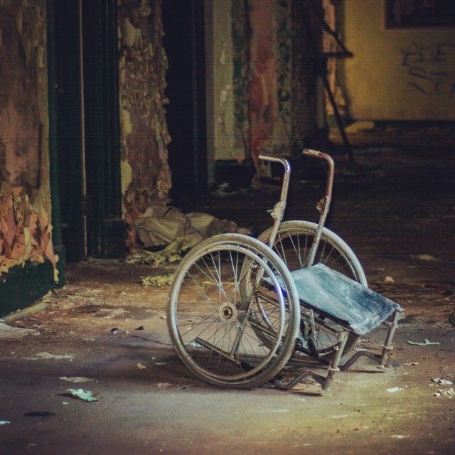 """Eerie wheelchair"" stock image"