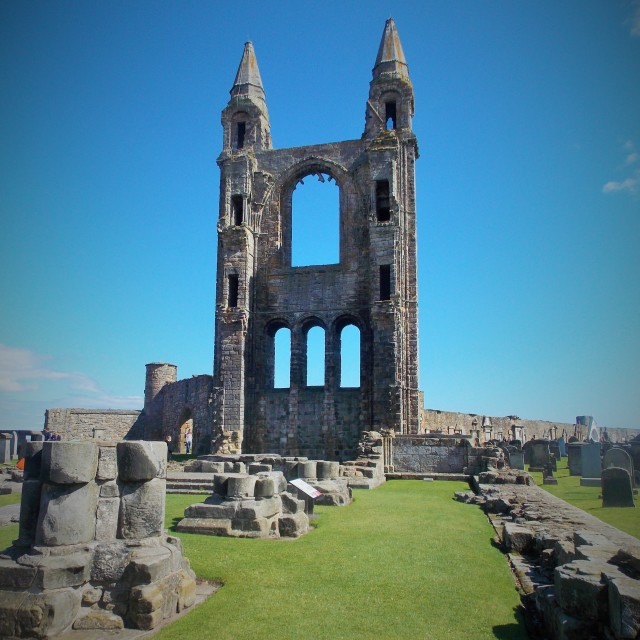 """""""St Andrews Cathedral East End"""" stock image"""