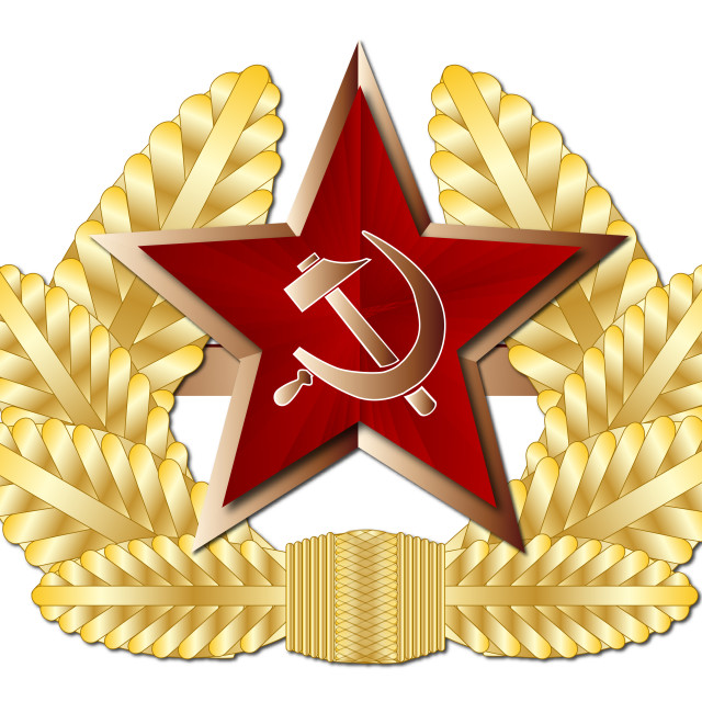 """Soviet Cap Badge"" stock image"