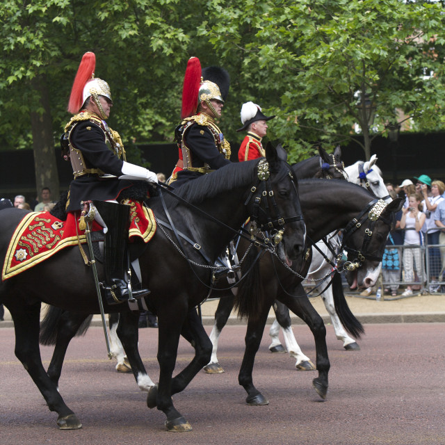 """London Royal Guard, London"" stock image"