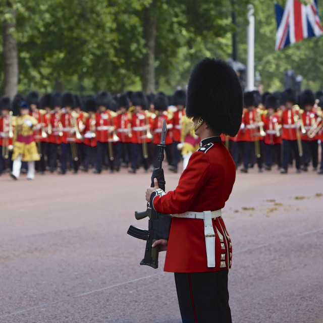 """London Royal Guards"" stock image"